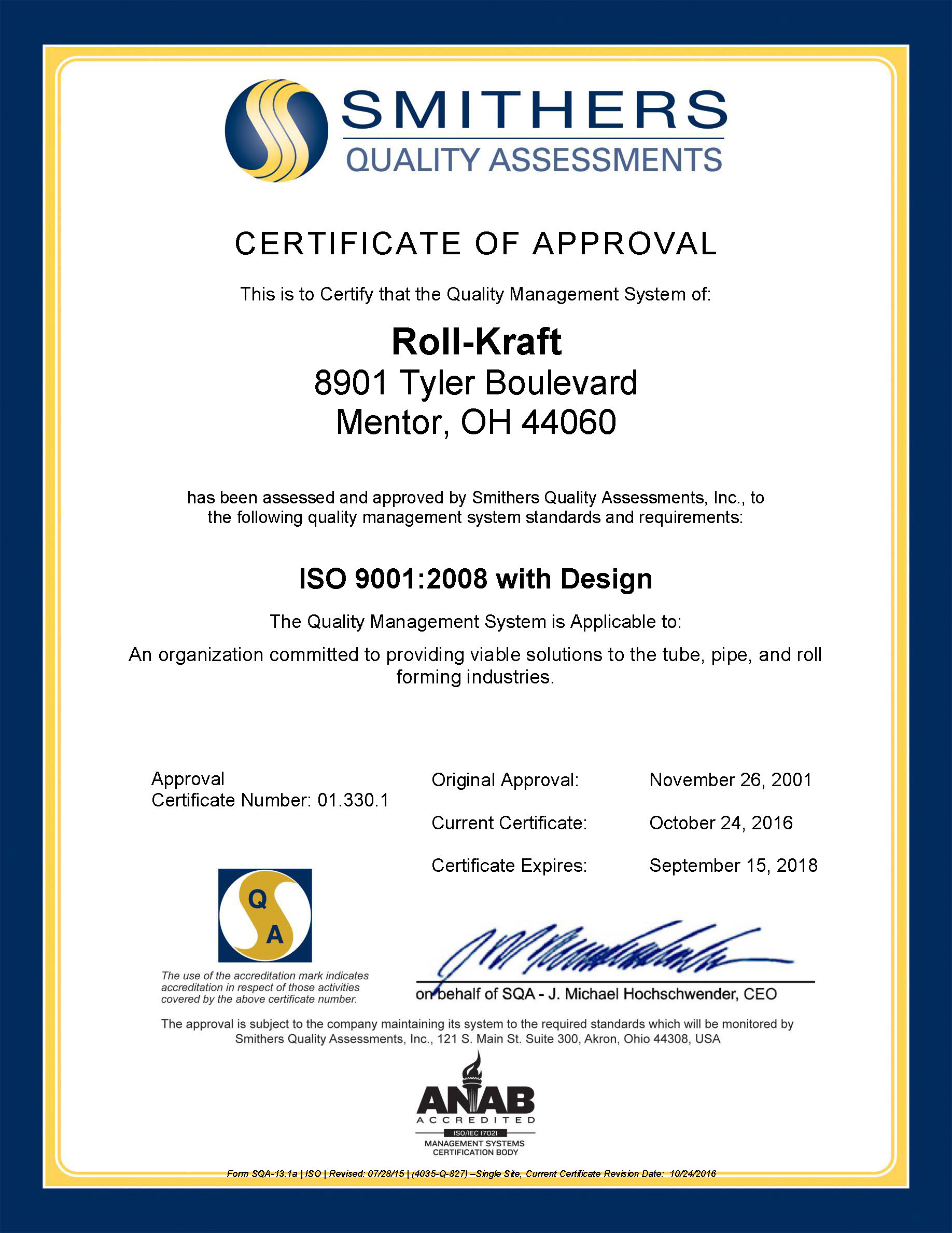 Quality Management Iso 90012008 Certified With Design