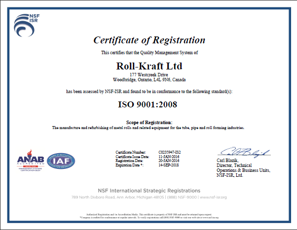 Quality Management, ISO 9001:2008 certified with design